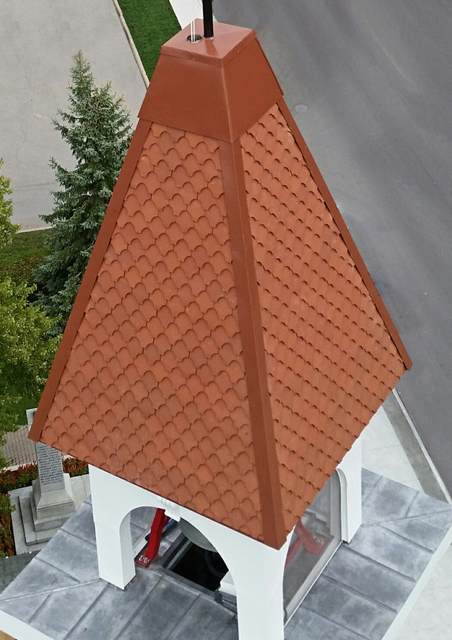 Tile used on a bell tower