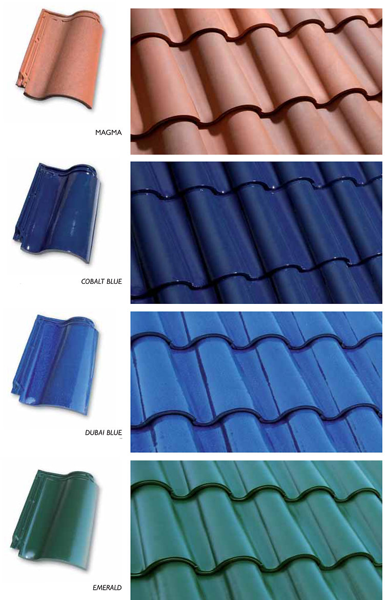 Available Onda Clay Tile Colors 2