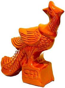 Glazed Clay Satue Phoenix 凤凰