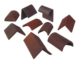 A varity of clay tile fittings