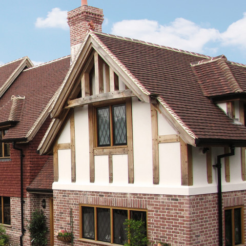 Tudor English handmade tiles in Jubilee with Medium Antique vertical tiling.