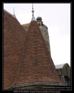 Custom Arris Hips for Hexagonal Tower