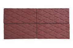 Red diamond chequered paver