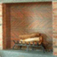 Clay Roof Tiles used for Fireplace Back