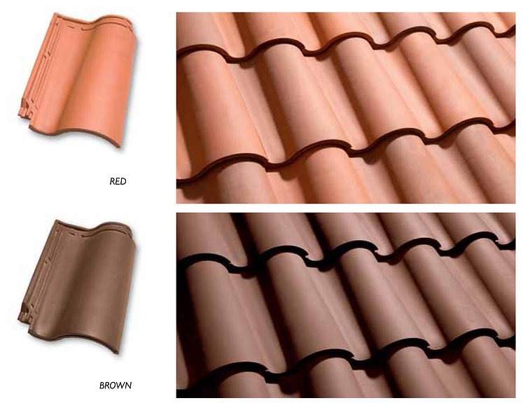 Available Onda Clay Tile Colors 1