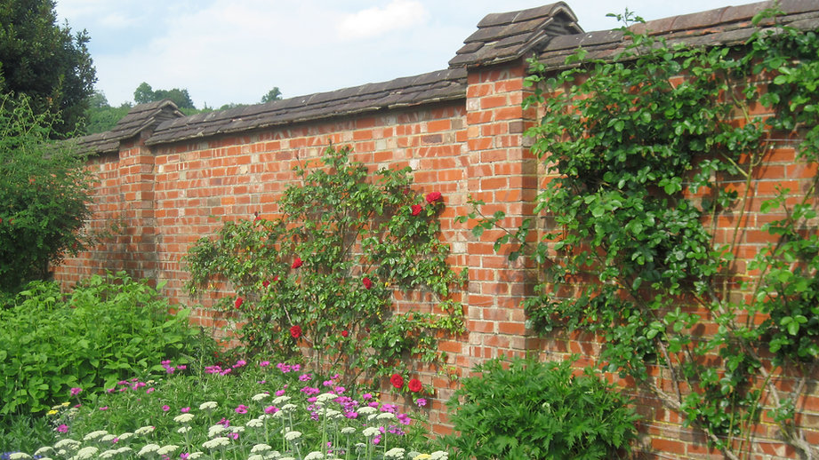 Roof Tiles used on a garden wall