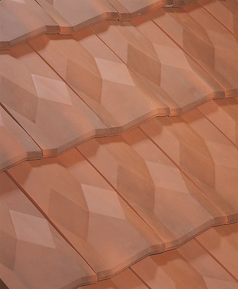 Diamant Clay Roof Tile in Flamme Rustic