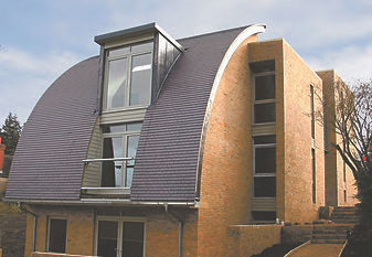 A moedern home using Dreadnought English clay roof tiles
