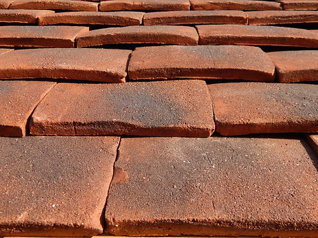 English Jubilee clay roof tile from Tudor
