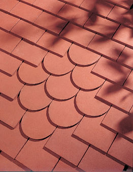 Dreadnought English Tile in red with beavertail tiles
