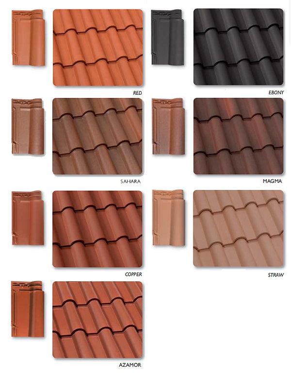 Red, Sahara, Copper, Azamor, Ebony, Magma & Straw