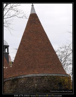 Custom Tiles for Round Tower