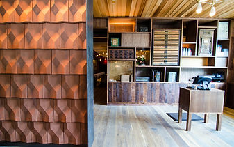 Diamant Clay Tile used on interior Wall at UCHI restaurant in Dallas TX