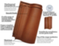 Onda Flat interlocking clay roof tiles