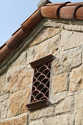 Clay Roof Tile used in a window