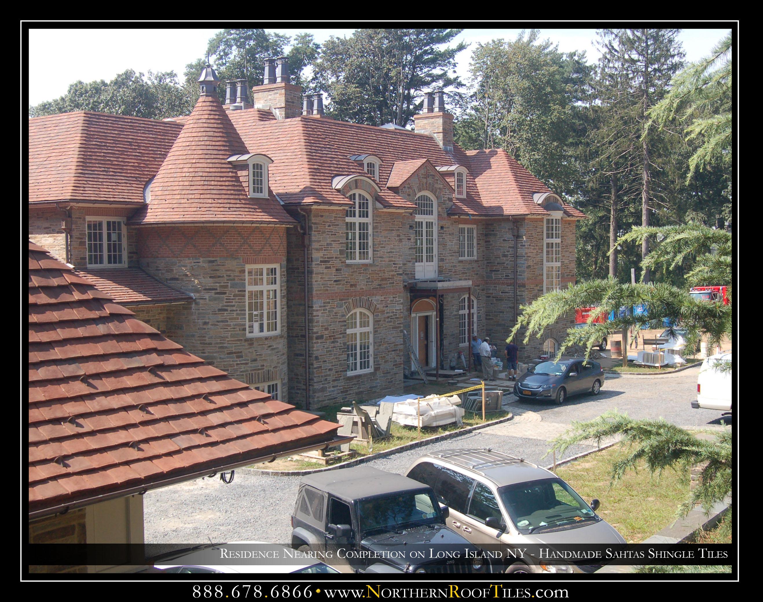 Residence Nearing Completion on Long Island NY - Handmade Shingle Tiles 1