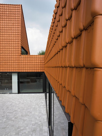 Clay Roof Tiles used on exterior walls