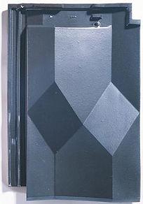 Diamant Clay Roof Tile Argentique