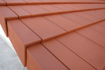 Plana Flat Interlocking in Red with gable tiles