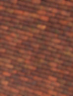 Close up of Huguenot clay tiles from France