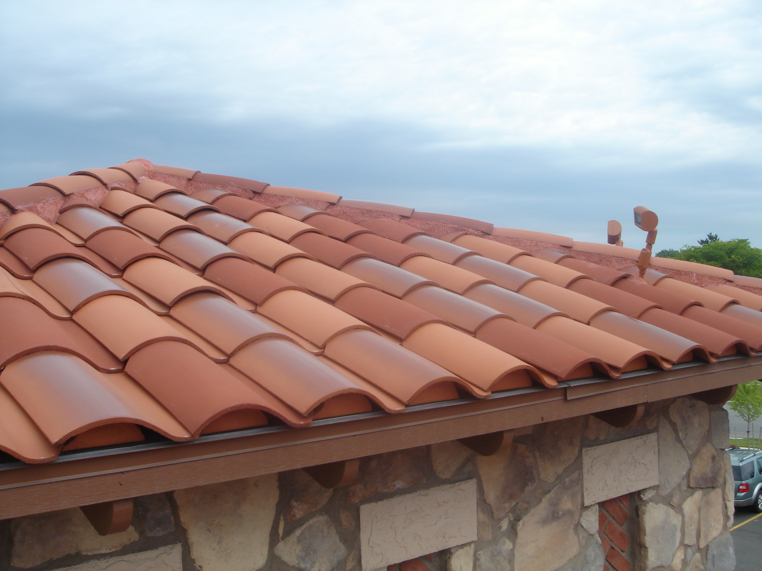 Terra Cotta Hips on a Pan & Cover Roof