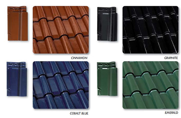 Cinnamon, Cobalt Blue, Graphite & Emerald