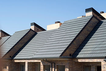 Plana clay roof tile in ebony gray