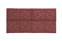 Red star pattern paver