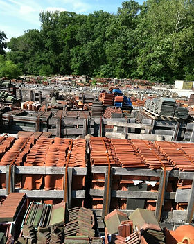 Reclaimed clay tiles for repairs and additions. We can find the tiles you need to match your project