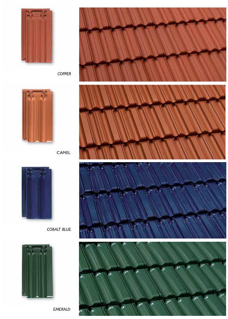 Copper, Camel, Cobalt Blue & Emerald Green