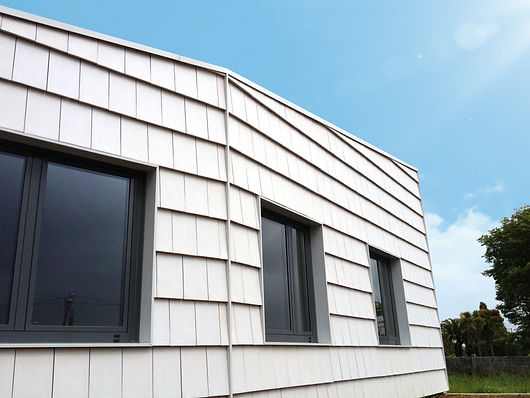 Plana Glacier White used on exterior walls