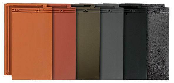 Natural Red, Copper (Dark Red), Tobacco Brown, Ebony Gray, Galena & Metallic Silver Gray
