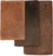 English Shingle clay tiles in different sizes