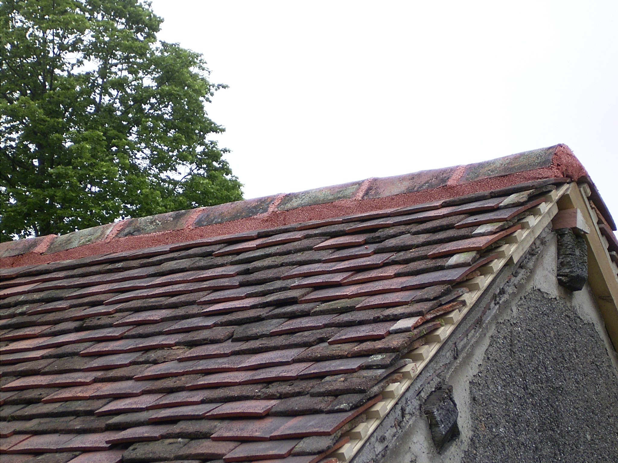 Terra Cotta Ridge Shingle Tile Roof