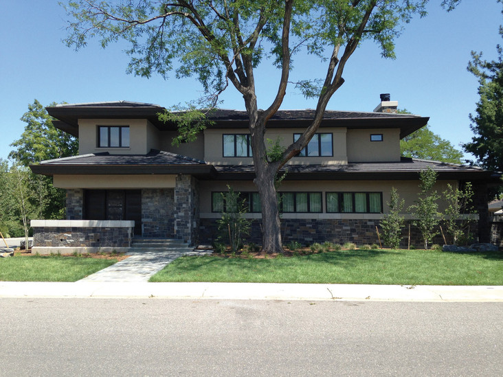 Plana flat interlocking roof tiles used on a home in Denver Colorado