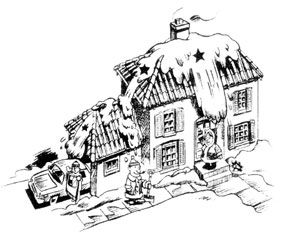 Snow sliding of a roof. We suggest using snow gurd to help prevent this