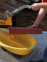 Hytile - roof tile cutter in action