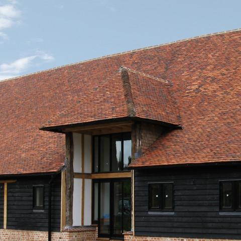Tudor Handmade English Tiles in Blend of 60% Medium Antique, 20% Red Antique and 20% Dark Antique.