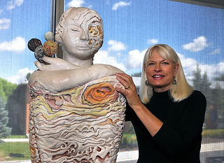Paula Rice with Jupiter, the Planet Series, photo by Betsey Bruner | Words & Images