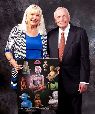 Paula Rice with Neil Armstrong by Tom Alexander