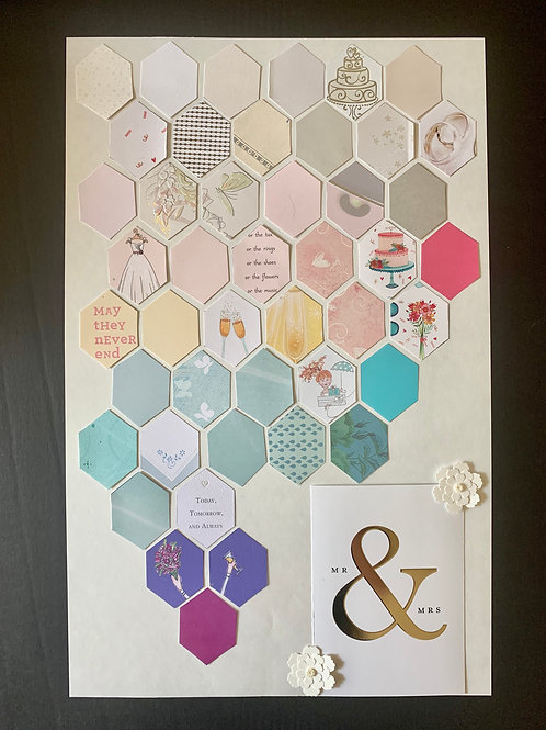 Hexagon & Image Collage, Large