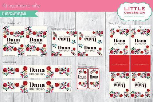 Kit imprimible flores mexicano