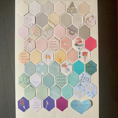 Hexagon Only Collage, Large