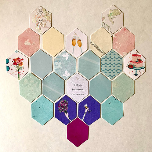 Hexagon Only Collage, Small