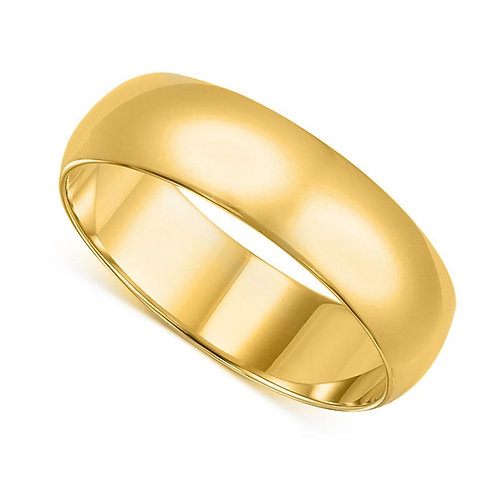 14k Yellow Gold 8-mm Standard-fit Polished Wedding Band