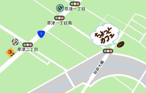 就労継続支援B型 Shake Hands 東草津製造所、ちょっとカフェの所在地の地図