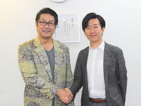 俳優 野村将希さんがShake Handsに来訪