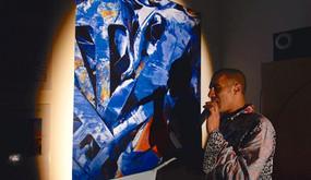 Galerie Rouan -  KHALID'K  improvise sur mes photos