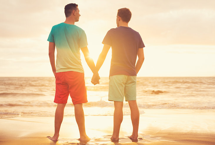 Male couple holding hands | LGBTQIA+ counseling in Parkland | LGBTQIA counseling in Coral Springs | LGBTQIA counseling in Fort Lauderdale, FL | LGBTQ therapist | LGBTQ couples therapy | 33301 | 33316 | 33308 | 33306