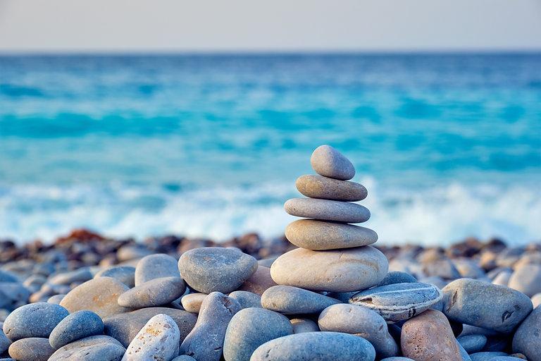 Picture of zen rocks near beach | psychiatric medicine | psychiatric medication managment in Fort Lauderdale, FL | psychiatric medication management in Coral Springs, FL | psychiatric nurse practitioner | psychiatric medicine management | 33301 |  33316 |  33308